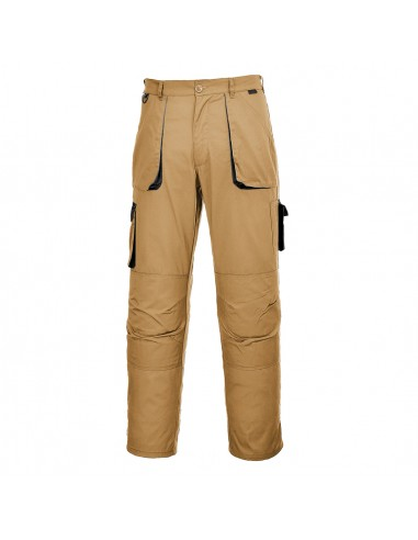 Portwest Pantalon de travail élégant en majoritaire coton confort Kaki Epic