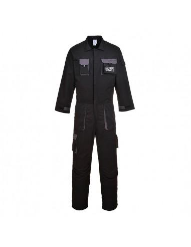 Portwest Combinaison pro élégante confortable avec Porte-badge Noir