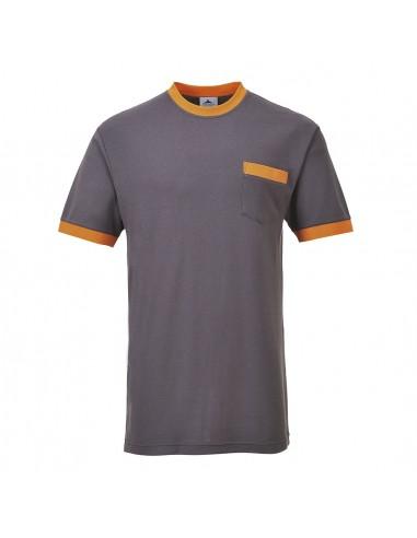Portwest T-shirt de travail contrasté Portwest Texo Gris