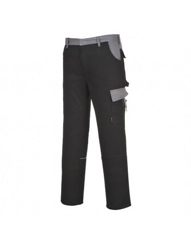 Portwest Pantalon de travail stylé résistant à l'abrasion Munich Noir