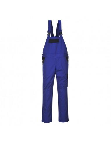 Portwest Salopette à bretelles robuste solide et polyvalent Bremen Bleu Roi