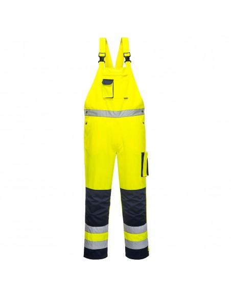 Portwest-Salopette de travail haute visibilité multi-poches Dijon Jaune