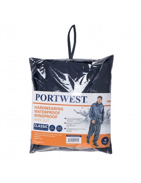 Portwest Ensemble de pluie (veste pantalon) Bleu Marine