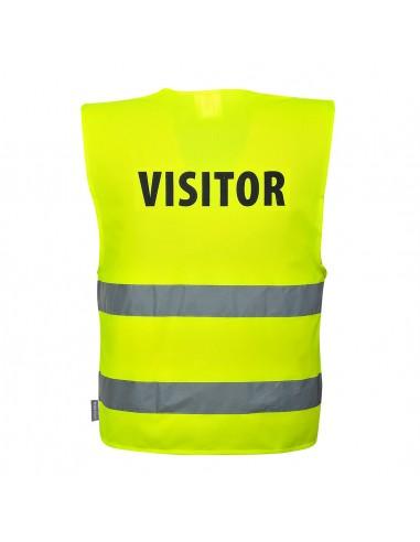 Portwest-Gilet haute visibilité de protection visiteur Jaune