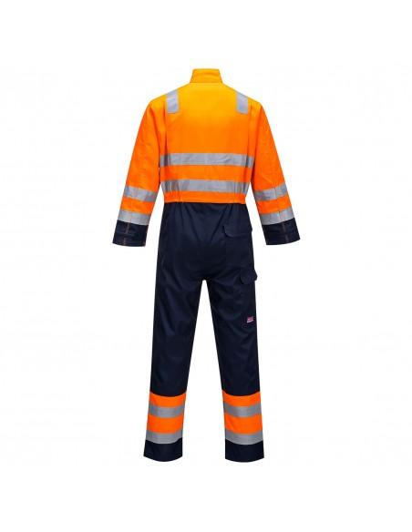 Combinaison Haute Visibilité Protection flamme Modflame Portwest Orange/Marine