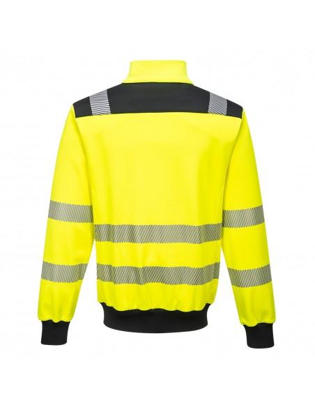 Portwest-Sweatshirt protection haute visibilité pro zippé PW3 Jaune/Noir