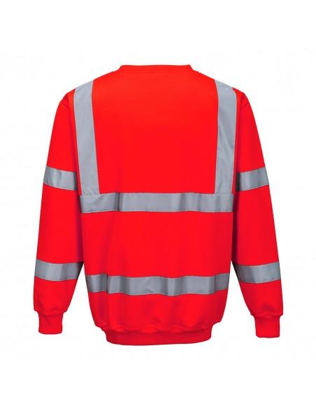 Portwest-Sweat haute visibilité de travail sans capuche extra doux-B303 Rouge