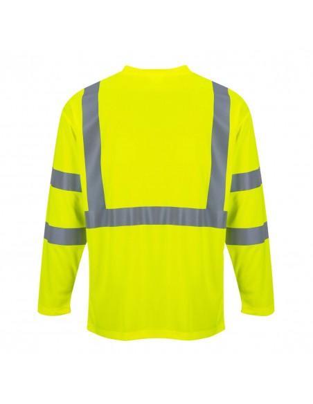 Portwest-Tshirt haute visibilité manches longues avec poche Jaune