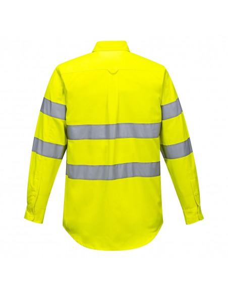 Portwest Chemise haute visibilité de travail coupe ajusté et élégante Jaune