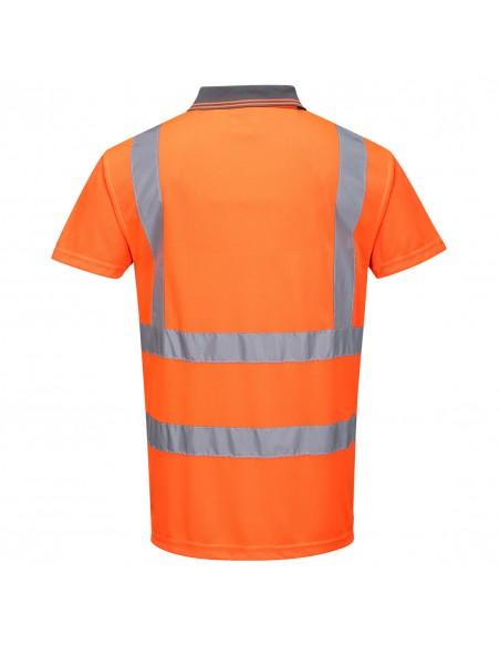 Portwest-Polo de sécurité professionnel haute visibilité coupe ample Orange