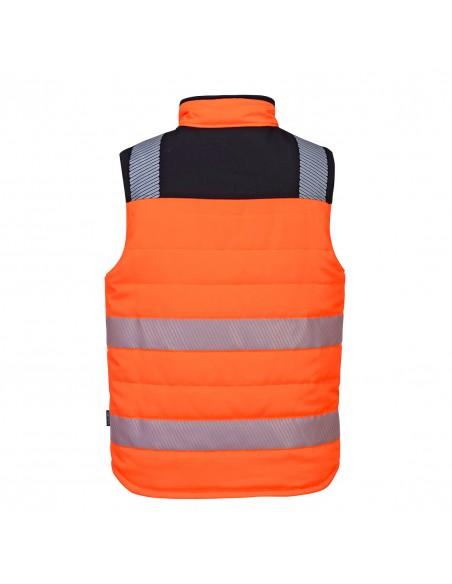 Portwest-Gilet de sécurité haute visibilité hiver réversible matelassé Orange/Noir