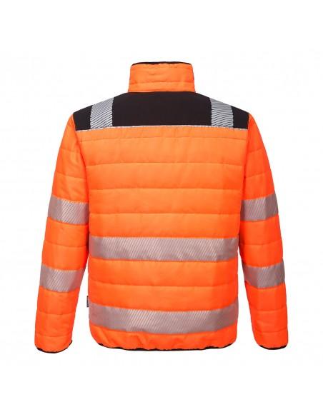 Portwest-Veste de travail haute visibilité doublé et rembourré PW3 Orange/Noir