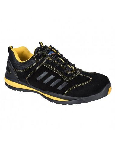 Chaussure Trainer de sécurité S1P HRO Portwest Lusum Steelit Noir/Jaune