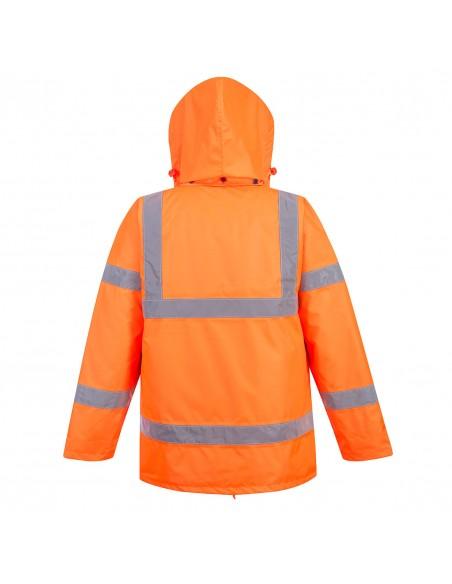 Portwest-Parka haute visibilité froid extrême avec capuche amovible Orange