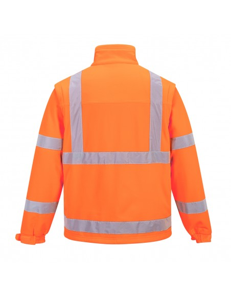 Portwest-Blouson haute visibilité manches démontables Softshell Orange