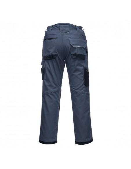 Portwest-Pantalon pro bricoleur de sécurité coton robuste PW3 Zoom Gris/Noir