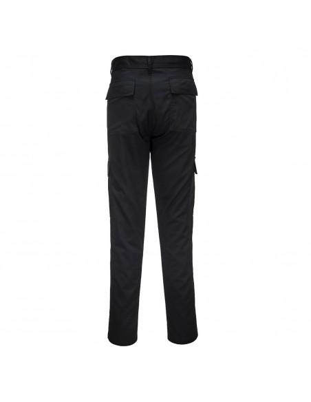 Portwest-Pantalon pro de travail style combat coupe ajustée slim Noir