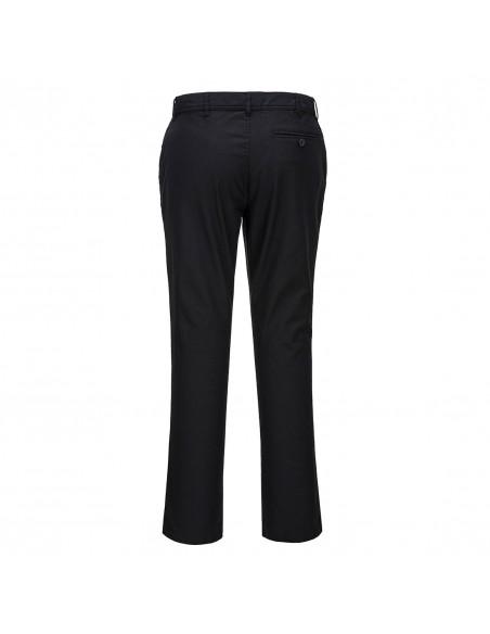 Portwest-Pantalon de service professionnel chino strech coupe slim Noir