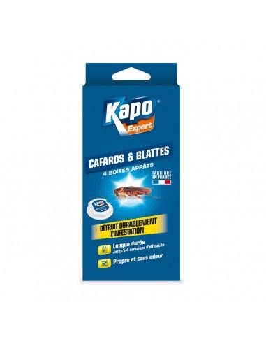 Kapo Étui de 4 boite à appât pour éradiquer radicalement les cafards et blattes