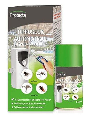 Protecta Pack complet diffuseur automatique avec insecticide 250ml