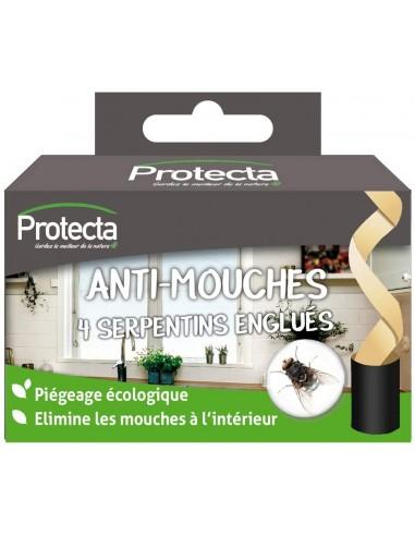 Protecta 4 Serpentins englués pour éliminer rapidement les mouches