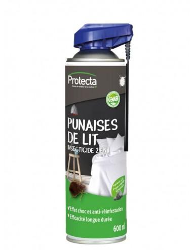 Protecta Aérosol Insecticide 2 en 1 effet choc anti-punaises de lit