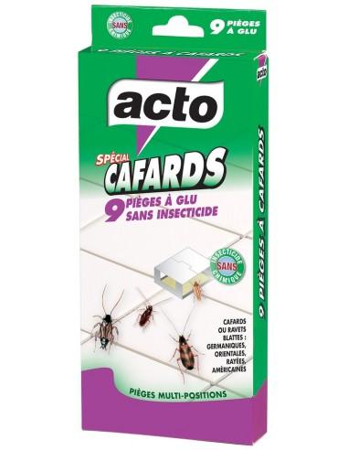Acto Étui de 9 pièges à colle sans insecticide anti-cafards