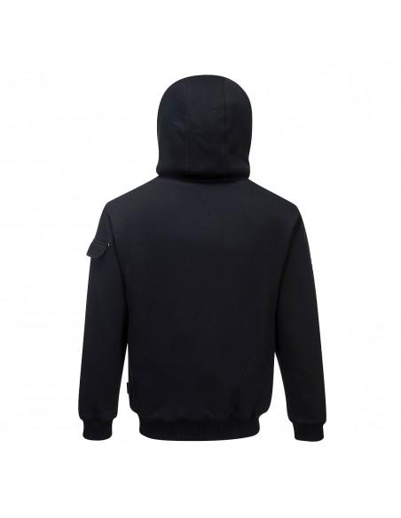 SweatShirt à capuche de travail avec doublure polaire Pewter Noir