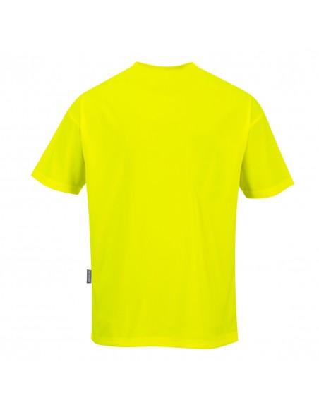 Portwest Tee Shirt de travail Day-Vis manches courtes à poche Jaune
