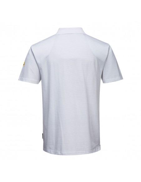 Portwest Polo de protection antistatique ESD ajusté et confortable Blanc