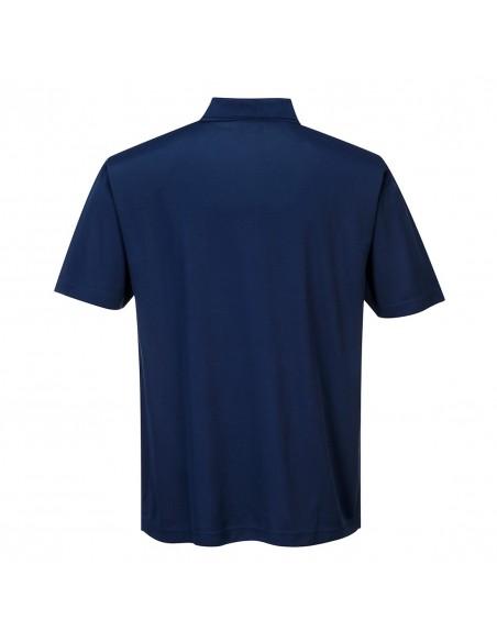 Portwest Polo de travail en tissu léger 100% Polyester confortable Marine