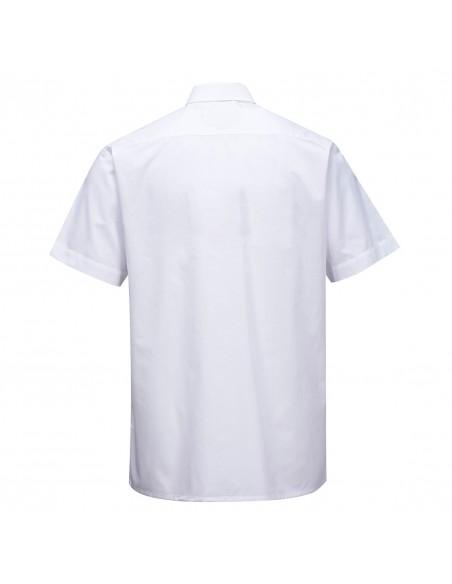 Portwest Chemise classique de travail sans manches Blanc