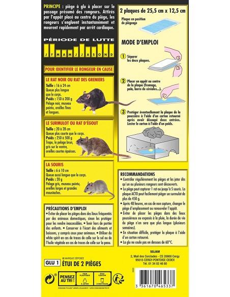 Acto Étui de 2 pièges à glu pour détecter et tuer rats et souris