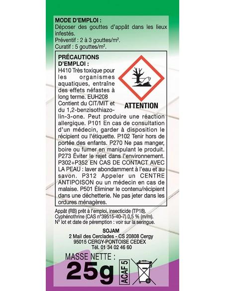 Acto Seringue insecticide pro en gel anti-cafards et blattes 25g