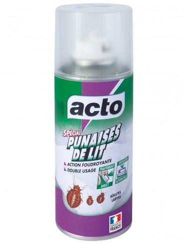 Acto Aérosol double diffusion foudroyante spécial punaises de lit