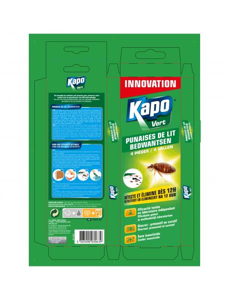 Kapo Étui de 4 pièges pour attraper les punaises de lit