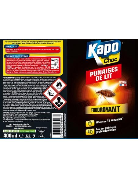 Kapo Aérosol foudroyant contre les punaises de lit 400ml