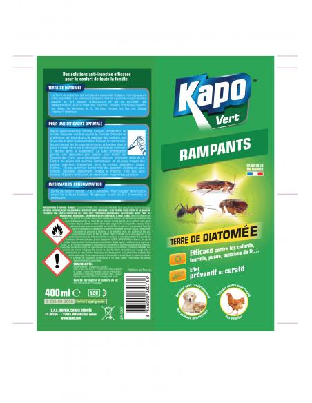 Kapo Aérosol terre de diatomée anti-cafards punaises fourmis