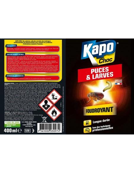 Kapo Aérosol foudroyant contre puces et larves pour longue durée