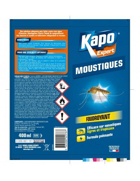 Kapo Aérosol efficace contre les moustiques tigres et tropicaux