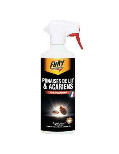 Fury Pulvérisateur Punaises de lit et acariens action foudroyante 500ml