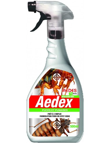 Aedex Pulvérisateur insecticide contre les puces et les punaises 500ml