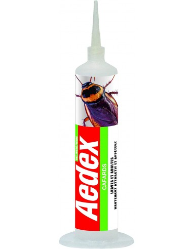 Aedex Seringue gel hautement attractif élimine cafards et larves 30g