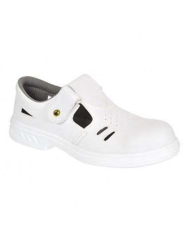 Chaussure Sandale de sécurité S1 Portwest Ebro Steelite ESD Blanc