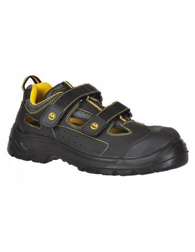 Chaussure Sandale de sécurité S1P Portwest composite Tagus ESD Noir