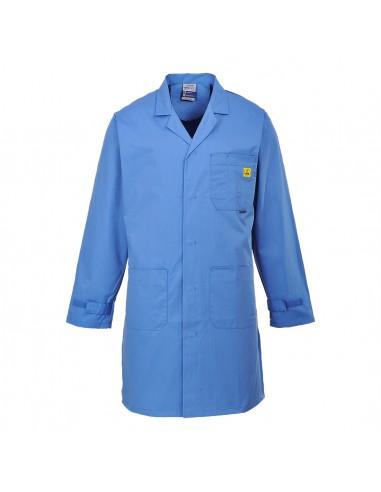 Portwest Blouse de sécurité antistatique ESD confortable Bleu Hôpital