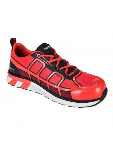 Portwest Chaussure de sécurité SBP AE Portwest OlymFlex Barcelona Rouge/Noir