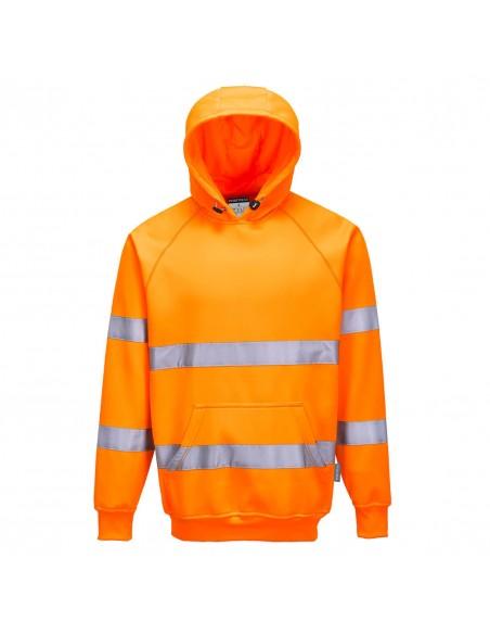 Portwest Sweatshirt professionnel Haute Visibilité à capuche réglable-B304 Orange