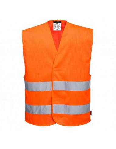 Portwest-Gilet professionnelle haute visibilité 2 bandes MeshAir Orange