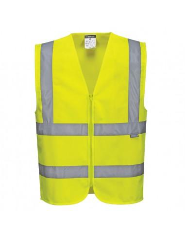 Portwest-Gilet de protection Haute visibilité pro avec zip Jaune